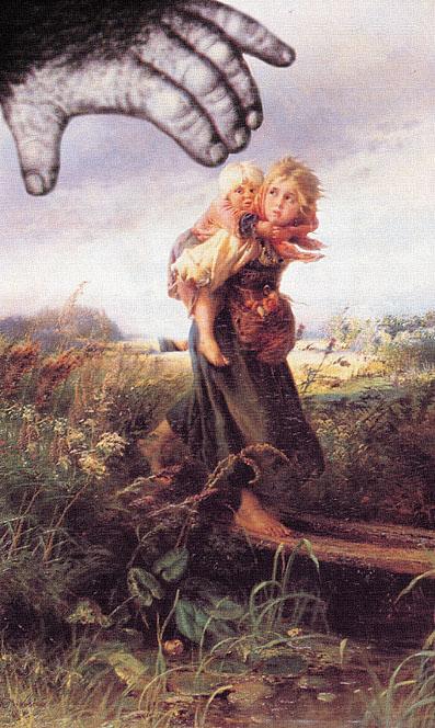 дети бегущие от грозы картина: